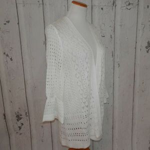 Charter Club Tops - NEW Charter Club White 1X Knit Open Front Sweater